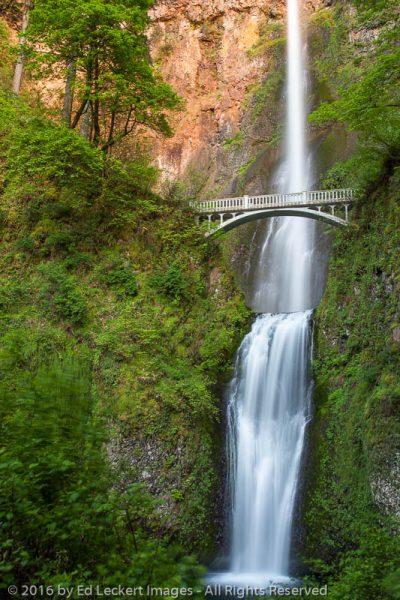 Multnomah Falls at Sunset, Historic Columbia River Highway, Oregon