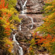 Silver Cascade in Autumn, Crawford Notch, New Hampshire