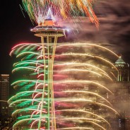 Space Needle Firestorm, Seattle, Washington