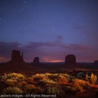 The Mittens from the Campground, Monument Valley, Arizona