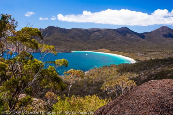Wineglass Bay from the Lookout, Freycinet National Park, Tasmania, Australia