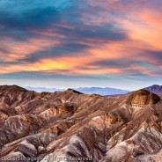 Zabriskie Point at Sunset, Death Valley National Park, California