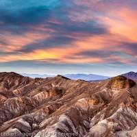 Zabriskie Point at Sunset, Death Valley National Park, California