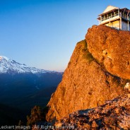 High Rock Lookout at Sunset, Gifford Pinchot National Forest, Washington