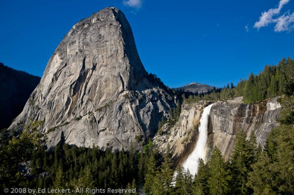 LIberty Cap and Nevada Fall, Yosemite National Park, California