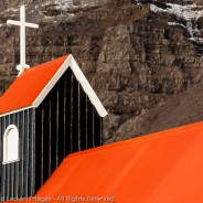 Little Black Church With Red Roof,  Westfjords, Iceland