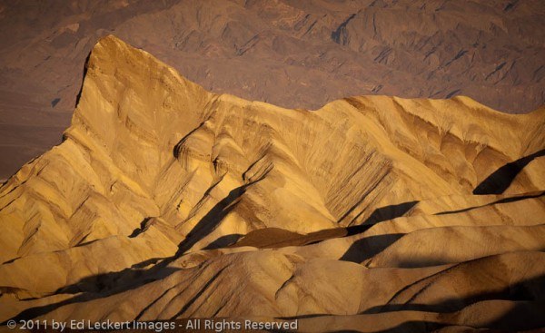 Manly Beacon from Zabriskie Point, Death Valley National Park, California