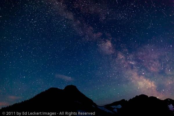Milky Way From Hidden Lake Overlook, Glacier National Park, Montana