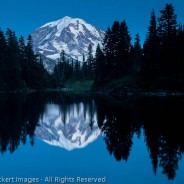 Mount Rainier Reflected in Eunice Lake at Twilight, Mount Rainier National Park, Washington