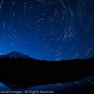 Star Trails at Reflection Lakes, Mount Rainier National Park, Washington