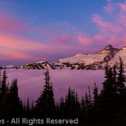 Sunrise above the Clouds at Sunrise, Mount Rainier National Park, Washington